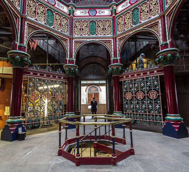 Interior of Crossness Pumping Station Engine Room (2013) Copyright Christine Matthews and licensed for reuse under the Creative Commons Licence (CC-BY-SA 2.0)