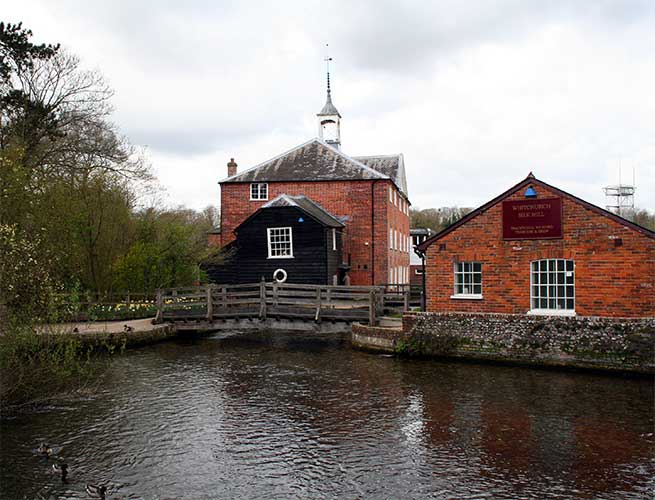 Whitchurch Silk Mill -1. Copyright Dr Neil Clifton and licensed for reuse under CC BY-SA 2.0.