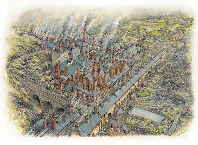 Wilsontown Ironworks in 1810
