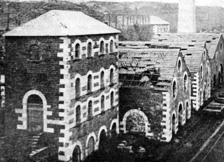 The ruins of Ynysfach Ironworks prior to demolition. Copyright Alan George