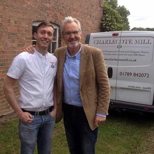 Karl Grevatt, Miller at Charlecote Mill – A Happy Miller Indeed